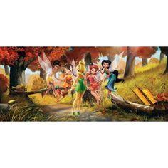 Disney Fairies - Tinkerbell, Silvermist, Emily and Fairies, Wonderful Place in the Woods x Wallpaper Trellis Wallpaper, Star Wallpaper, Wall Wallpaper, Disney Fairies, Tinkerbell, Poster Disney, Buy Wallpaper Online, Paradise Garden, Peter Pan Disney