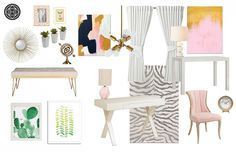 Contemporary, and Glam Office by Havenly