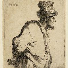 Rembrandt, Boer met handen op de rug ( B 135), 1631. Teylers Museum