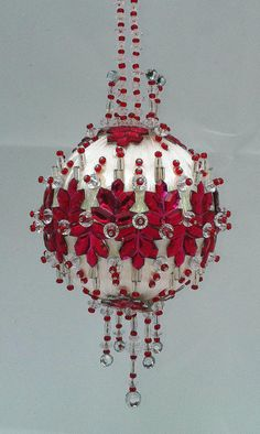Beaded Christmas Ornament Kit Enchanted Forest by thecrackerboxinc                                                                                                                                                      More