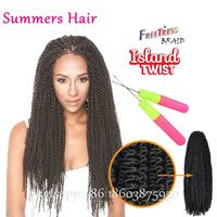 Freetress Equal Synthetic Braid Island Twist Braiding Hair Jumbo Senegal Twist Croceht Braids Unraveled Freetress Bohemian