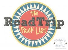 I am a list person. Lists keep me organized and on top of things. You may have seen my Grocery Shopping Listwhere I have everything I ever buy, almost, on a one page printable. My Road Trip Pack List works the same way. I have included anything I could imagine we would take on our