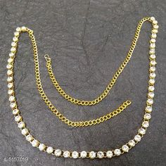 Kamarband and Belly Chains Women's Beaded Gold Plated Kamarband Base Metal: Alloy Plating: Gold Plated Stone Type: Artificial Beads Sizing: Adjustable Type: Chain Multipack: 1 Sizes: Free Size Country of Origin: India Sizes Available: Free Size *Proof of Safe Delivery! Click to know on Safety Standards of Delivery Partners- https://ltl.sh/y_nZrAV3  Catalog Rating: ★4.1 (2542)  Catalog Name: Women's Baeded Gold Plated Kamarband CatalogID_761845 C77-SC1420 Code: 181-5157019-