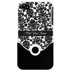 Personalized Damask B iPhone 4 Slider Case