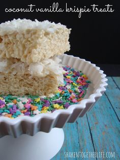 coconut vanilla krispie treats