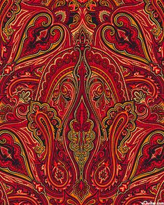 Luscious paisley!  Kashmir - Cathedral Paisley - Wine
