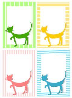 free digital and printable cat journaling cards – Briefpapier mit Katze – freebie | MeinLilaPark – digital freebies