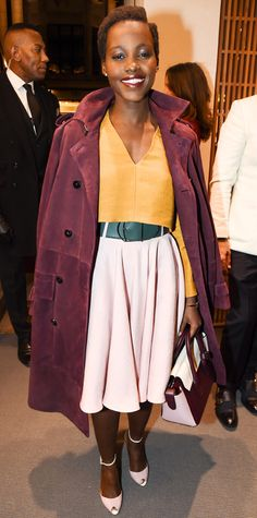 Look of the Day - October 23, 2014 - Lupita Nyong'o in Bally from #InStyle