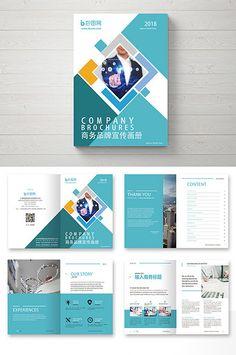 Blue square creative brand business Brochure#pikbest#templates Graphic Design Brochure, Corporate Brochure Design, Company Brochure, Brochure Layout, Business Branding, Infographic Template Powerpoint, Brochure Template, Layout Template, Flyer Template