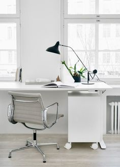 A Bright White Workspace to Inspire Your Week
