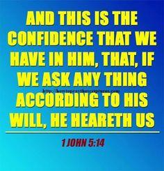 1John 5:14 KJV