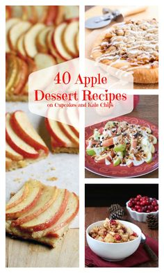 40 Apple Dessert Recipes - the best desserts for fall! Cookies, cakes, cupcakes, pie and more!   cupcakesandkalechips.com