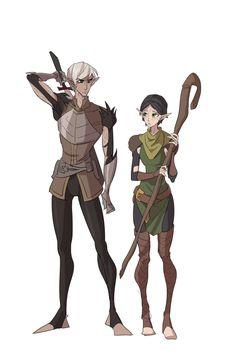 Fenris and Merrill. Dragon Age: II