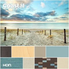 Earthy, breezy and fresh, this palette has a cool, relaxing feel. Office design inspiration from The HON Company.