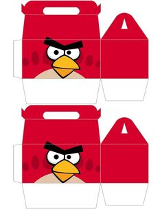 Angry Bird Gable Boxes for your next Angry Bird Party .... free to use & free to share <3