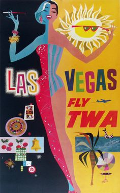 Las Vegas Fly TWA | David Klein, c. 1965