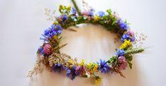 Wianek z polnych kwiatów DIY