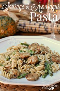 Date night at home with sausage and asparagus pasta recipe and by our southern home #ad #EpicwithAndre