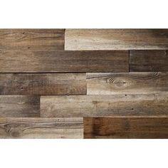 "Poppa's Barn 52"" x 4.87"" Reclaimed Solid Wood Wall Paneling | Wayfair Grey Wood, Brown Wood, Black Wood, Reclaimed Wood Wall Panels, Reclaimed Barn Wood, Vinyl Wall Panels, Wood Panel Walls, Wood Planks, Wood Paneling"