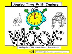 Do your kiddos love dogs? Then, your students can have fun telling analog time while reading dog scenario. Each question has a clock to refer to as learners read analog clock time to the nearest five minutes. These task cards can be used as a class game, for cooperative learning or at a math center.