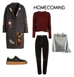 """Untitled #78"" by apetrenkom on Polyvore featuring Valentino, River Island, Puma, Dolce&Gabbana and Charlotte Olympia"