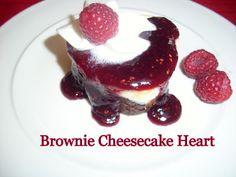 brownie cheesecake heart