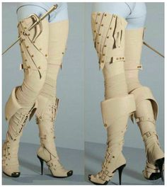Bootleggers 2 - Double Trouble set is a very special set of boots. It contains a basic black thigh high boot, with several additional conforming pieces transforming the boots into an ultra sexy boot with straps or transforming it into a fantasy bo Mode Steampunk, Steampunk Fashion, Steampunk Pirate, Steampunk Boots, Everyday Steampunk, Steampunk Sword, Steampunk Assassin, Steampunk Leggings, Steampunk Dress