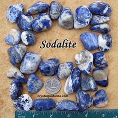 Sodalite medium Grade C tumbled stone crystals by CrystalGuidance