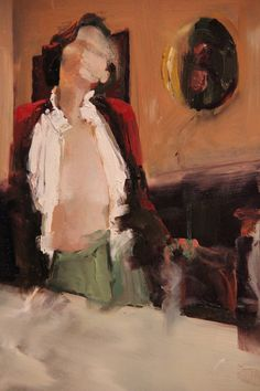 "Saatchi Online Artist: Fanny Nushka Moreaux; Oil 2013 Painting ""At the Table"""