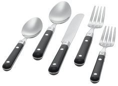 GINCKO INTERNATIONAL Le Prix 20-Piece Stainless Steel Flatware Set Black Service for 4 $49.95 TOTAL COST TO YOUR DOOR! (PICK UP ALSO AVAILABLE AT OUR NYC OR LA LOCATIONS) www.shopculinart.com