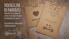 Ekologiczne do kwadratu - Zaproszenia Ślubne