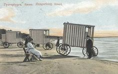 Bath wagons in the Russian time, i.e. before 1918 (I think)