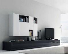 Mueble salón bicolor: blanco y negro ¡Atrévete a combinar!