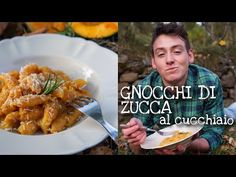 GNOCCHI DI ZUCCA AL CUCCHIAIO senza spianatoia - facili, veloci, morbidi e golosi - ricetta perfetta - YouTube Vegan Pasta, Couscous, Meat, Chicken, Youtube, Homemade Pasta, Lasagne, Youtubers, Youtube Movies