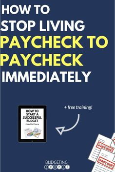 How to Stop Living Paycheck to Paycheck Right Now! Frugal Living | Paycheck to Paycheck | Debt | Debt Payoff | Budgeting | Budgeting Tips | Save Money | Money Saving Tips | How to Budget | Budgetingcouple.com #paychecktopaycheck #budgeting #budgetingcouple