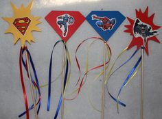 Super Hero Wands great for favors by Leonscreativememorie