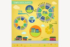 Town Infographics. Illustrations