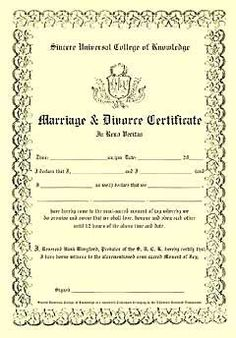 Fake Divorce Papers A Fake Decree Of Divorce  Divorce Records  Pinterest