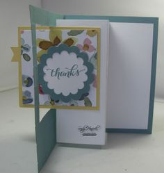 Pop Out Swing Card, English Garden Designer Papers, Another Thank You, hand made card with Stampin' Up! products,