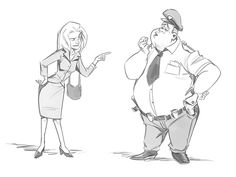 How to Draw a Cartoon Body by Carlos Cabral, via Behance