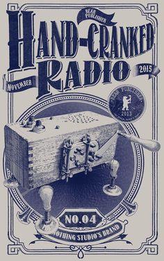 HAND-CRANKED RADIO POSTER
