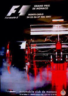 2001 Monaco Grand Prix poster