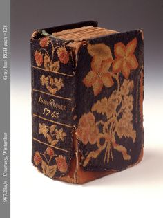 Needlework Book cover, c. 1765, flame stitch and tent stitch