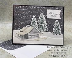 Fancy Fold Cards, Folded Cards, Sheep Cards, Cabin Christmas, Make Your Own Card, Hand Stamped Cards, Stampin Up Christmas, Winter Cards, Card Tutorials