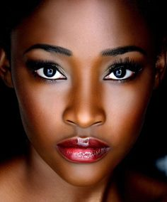 Cranberry lip color- so pretty on deep brown complexions.