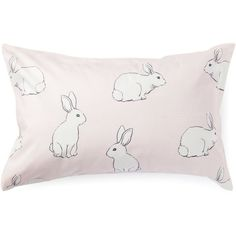 Pastel Pink Clover Standard Pillow Case David Jones featuring polyvore, home, bed & bath, bedding, bed sheets, decor, filler, pillow, david jones, pale pink bedding, light pink bedding and soft pink bedding