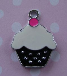 Cupcake charm embellishments jewelry supplies | Artsy_Effects - Jewelry Supplies on ArtFire