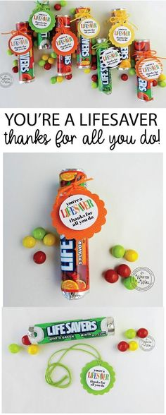 You're a LIFESAVER—Thanks For All You Do! Fun Appreciation Treat Gifts, Teacher Recognition, Employee Recognition, Co-Worker Gifts Etc
