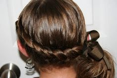 Wrap Around French Braid Ponytail: I do this hairstyle on my daughter a LOT, and it's just adorable. We always get compliments, and it's so easy to do! Even cuter if you curl the ponytail, but that's optional.