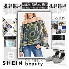 """SHEIN-NEW CONTEST IN MY GROUP!"" by maiah-bee ❤ liked on Polyvore featuring Gucci and Skin & Tonic"